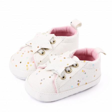Adidasi fetite cu slipici alb