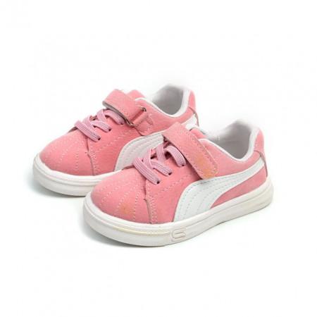 Adidasi roz cu alb pentru fetite
