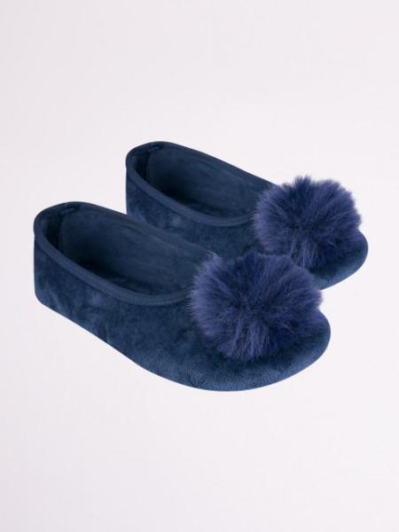 Botosei bleumarine cu puf