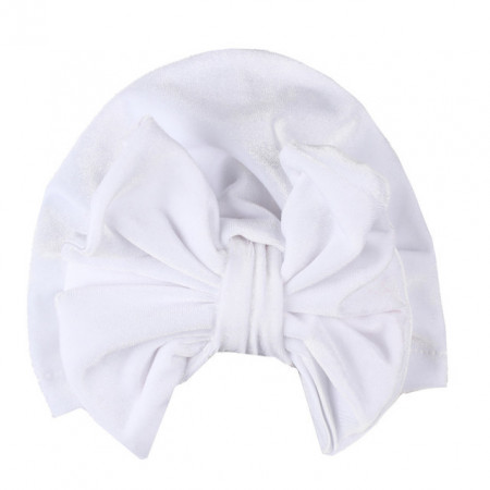 Caciulita tip turban din catifea cu funda