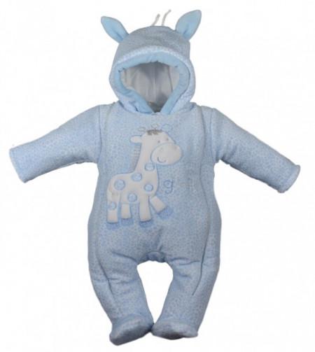 Combinezon baietei bleu - Giraffe