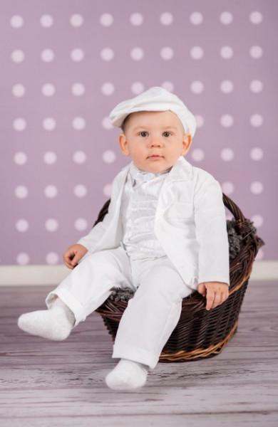 Costum elegant Satin White