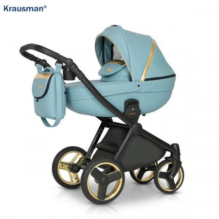 Krausman - Carucior 3 in 1 Prime Mirage Blue Gold