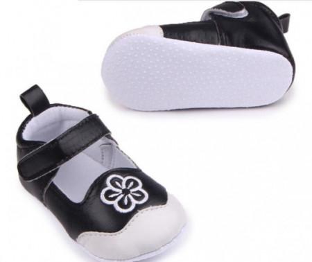 Pantofiori negru cu alb - Floricica
