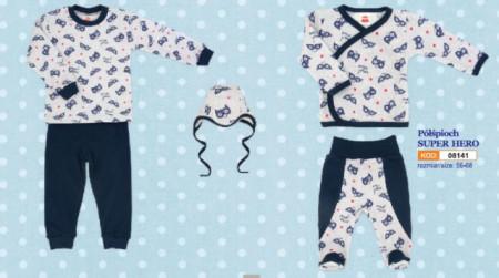 Salopeta bebe cu bluzita - Colectia Super Hero - Haine Bebelusi