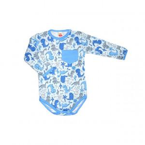 Body bebe - bleu cu dinozauri - Haine Bebe