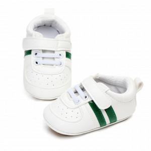 Adidasi bebelusi cu dungi verzi