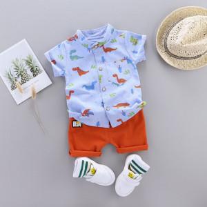 Costum bebelusi cu camasuta bleu - Taramul dinozaurilor
