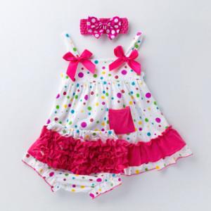 Costumas pentru fetite - Bulinute colorate
