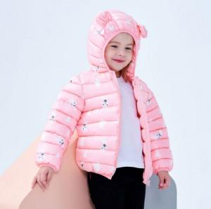 Geaca din fas roz pentru fetite - Iepurasi