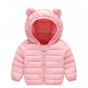 Geaca din fas roz pentru fetite