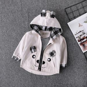 Jacheta gri pentru baietei - Teddy