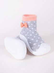 Mocasini pentru copii cu talpa antiderapanta - Dots