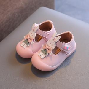 Pantofi roz pentru fetite - Iepurila