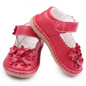 Pantofiori fetite - Margarete rosii