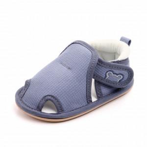 Pantofiori gri decupati pentru baietei - Teddy