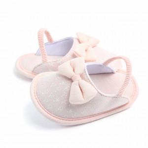 Pantofiori roz banan decupati pentru fetite