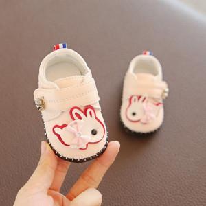 Pantofiori roz banan pentru fetite - Iepurila