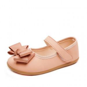 Pantofiori roz pudra cu funda crem