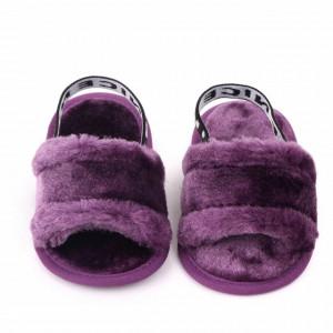 Sandalute fetite mov - Pufosila