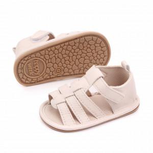 Sandalute ivoire cu barete pentru baietei