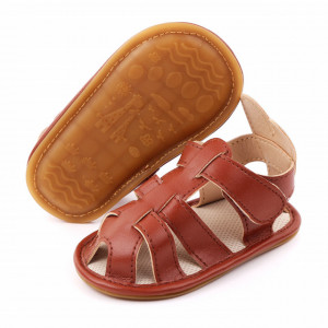 Sandalute maro pentru baietei - Urechi de iepuras