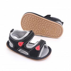 Sandalute negre cu barete ajustabile
