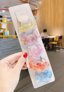 Set de 10 elastice pentru par - Stelute multicolore