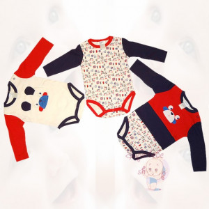 Set de trei body-Haine bebe