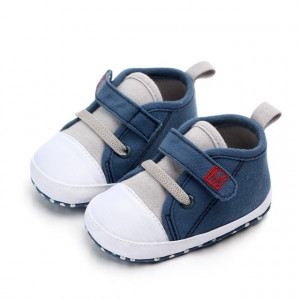 Tenisi bebelusi gri cu albastru