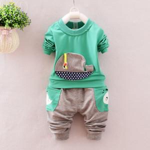 Trening bebelusi cu bluza verde - Balenuta
