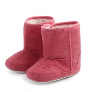 Cizmulite imblanite roz inchis pentru bebelusi