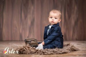Costum bleumarine pentru bebelusi - Set complet