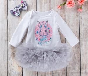 Body cu fustita tutu gri - Little Bunny