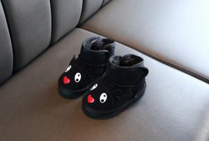 Cizme negre pentru fetite - Renul dragalas
