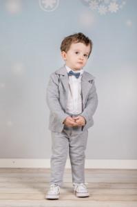 Costum pentru bebelusi - Set complet Grey Perfect
