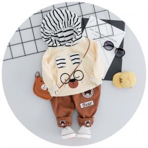 Costumas bebelusi ivoire cu maro - Teddy bear
