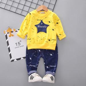 Costumas galben pentru baietei - Misanely