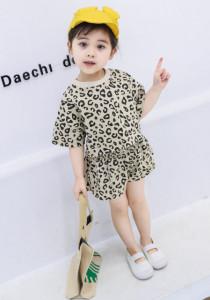 Costumas pentru fetite - Leopardul crem