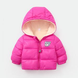 Geaca roz ciclamen pentru fetite - Teddy