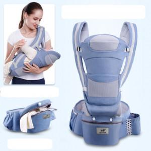 Marsupiu ergonomic gri cu scaunel