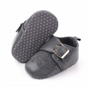 Pantofi eleganti gri cu catarama