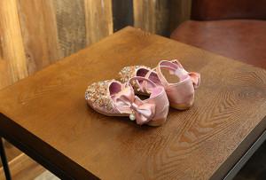 Pantofi eleganti roz sidefat - Diamond shoe