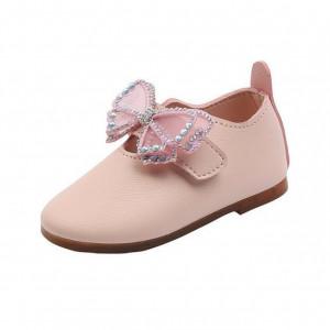 Pantofi roz eleganti cu fluturas