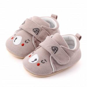 Pantofiori gri pentru baietei - Teddy