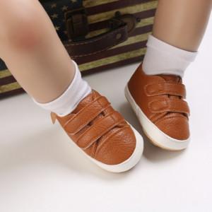 Pantofiori maro pentru baietei
