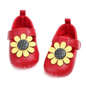 Pantofiori rosii - Floarea soarelui