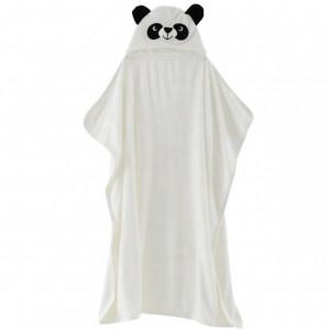 Prosop alb din fibra de bambus cu gluga - Panda