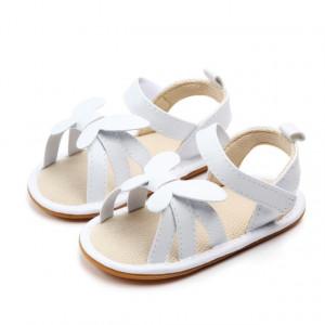 Sandale fetite albe cu fluturas