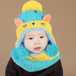 Set imblanit bleu cu galben mustar - Kitty